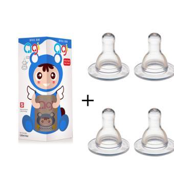 Bộ Bình Sữa Agi 120ml + 2 Vỹ Ty Agi Đôi Cùng Size