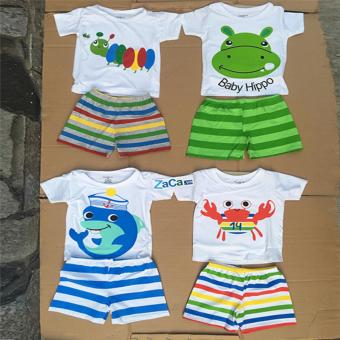 Set 4 bộ quần áo cho trẻ 100 % cotton Size 1 (4-7kg) hàng Việt Nam mẫu NBT