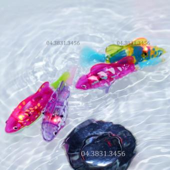 Bộ 3 con cá cảnh chạy pin Robo Fish có đèn Led