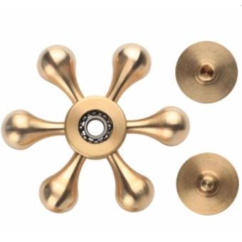 Con Quay Fidget Spinner Đồng 6 cạnh không ma sát xả stress