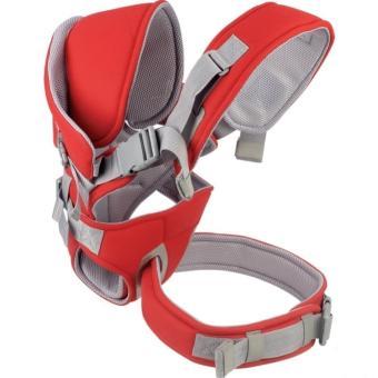 Địu mềm 6 tư thế cho bé Baby Carrier Fiamma shop (Đỏ)