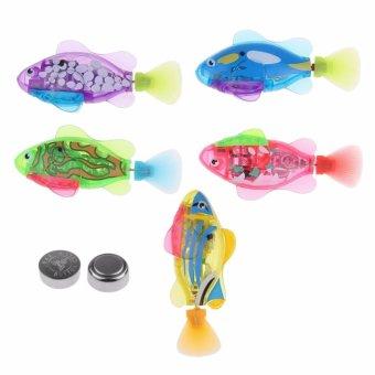Cá cảnh Robot chạy pin Robotic Fish có đèn Led
