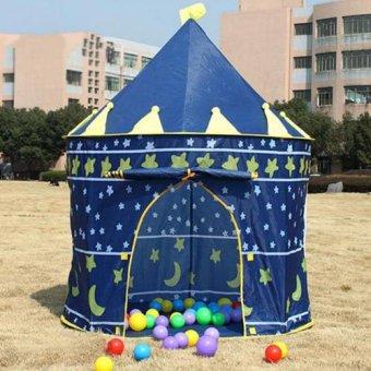 Lều bóng lâu đài Xanh cho bé