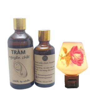 Tinh dầu tràm dùng cho trẻ sơ sinh Ngọc Tuyết 150ml + tặng đèn ngủ xông tinh dầu.