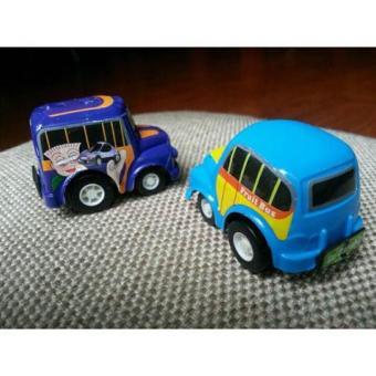 Bộ sưu tập 6 ô tô Bus Xinh xắn cho bé yêu (có dây cót)