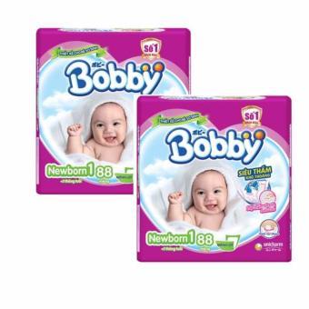 Bộ 2 Tã giấy Bobby Fresh Newborn 1-88