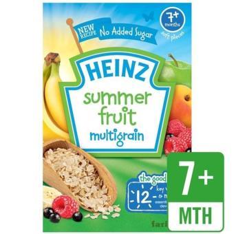 Bột ăn dặm Heinz multigrain vị ngũ cốc trái cây mùa hè cho bé 7m+ 125g(Natural)