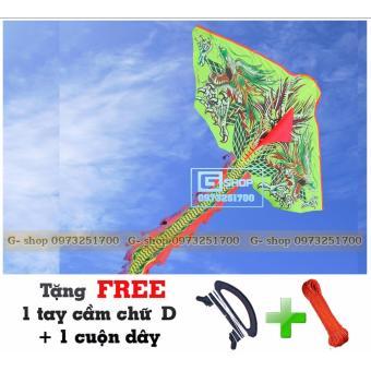 Diêu Việt Nam Rồng 3 Đầu Xanh 1 Đuôi + Tặng FREE Tay cầm và cuộn dây
