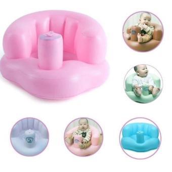 Ghế hơi tập ngồi, tập ăn bơm tay tiện dụng cho bé (Hồng) HP42