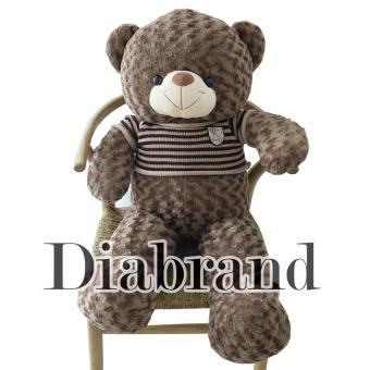 Gấu bông Teddy cao cấp áo len hàng VNXK màu cà phê sữa khổ 1m2 -TEDDYS1DIABRAND (nhà bán hàng Diabrand)