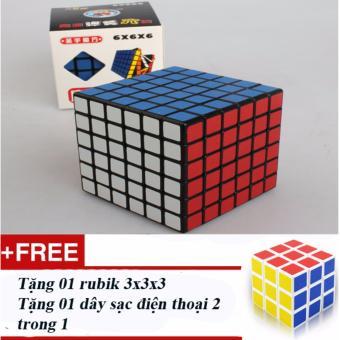Rubik loại 6x6x6 trơn nhạy + Tặng 01 rubik loại 3x3x3 và sạc điện thoại
