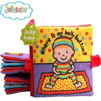 Sách vải Jollybaby Where is my belly button cho bé chơi mà học