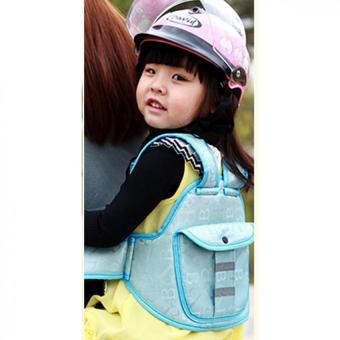 Đai ngồi xe máy cho bé 2 trong 1 kiêm đai tập đi (Xanh lơ)