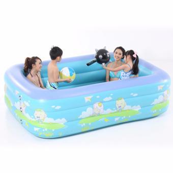 Bể bơi trẻ em 3 tầng ice cream 130cm Dma store