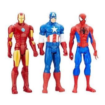 Set 3 nhân vật Marvel Titan Hero Series Ironman Captain Spiderman