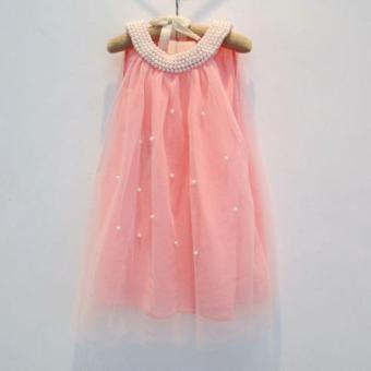 Đầm bé gái voan cam D062