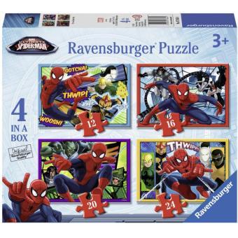 Mua Bộ 4 xếp hình Người Nhện Spider Man 12/ 16/ 20/ 24 mảnh - Ravensburger 7363 giá tốt nhất