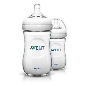 Bộ 2 bình sữa Philips Avent bằng nhựa không có BPA 260ml 693.27