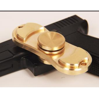 Con quay 2 cánh bằng đồng vàng EDC HandSpinner + Tặng 01 sạc điện thoại 2 trong 1 cho Iphone và Samsung