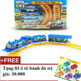 Bộ đồ chơi xếp hình tàu hoả Thomas + Tặng 03 ô tô bánh đà