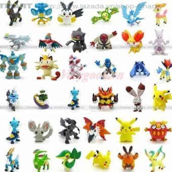 Bộ 24 tượng thú Pokemon Go cao 2-3cm ngẫu nhiên