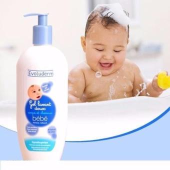 Sữa tắm gội trẻ em Evoluderm GEL Lavant doux pour Bébé 500ml