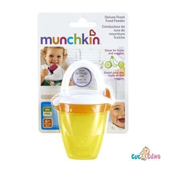 Túi ăn chống hóc Munchkin có nắp MK24183 (Vàng)