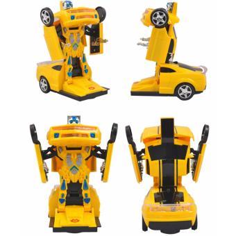 Xe Ô tô biến hình thành Robot chạy pin, phát nhạc (TRANSFORM)