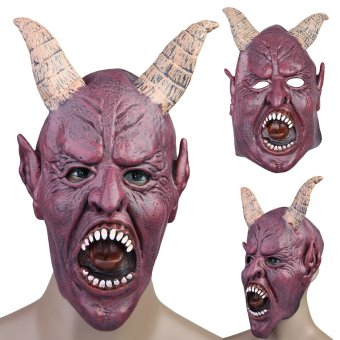 Scary Fierce Mask Halloween Masquerade Adult Mask Cosplay Party Costume (Purple) - intl