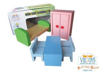 Bộ Bàn ghế giường tủ gỗ nhỏ Vietoys