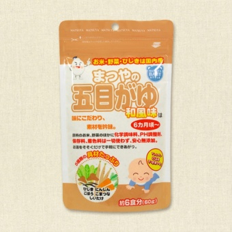 Bột ăn dặm cho bé từ 6m nấm rau củ hỗn hợp Matsuya Nhật Bản 00221 60g