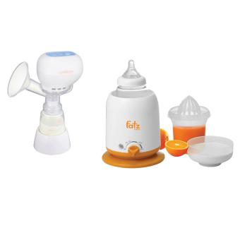 Bộ 1 máy hút sữa mẹ điện tử Unimom KPOP 871104 và 1 máy hâm nóng sữa và thức ăn 4 chức năng không BPA Fatz 3002SL