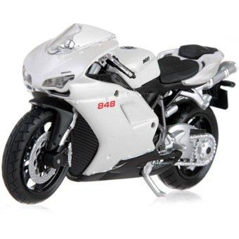 Xe mô hình V&G Ducati 848 1:18 Maisto (Trắng)