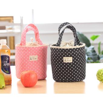 Túi giữ ẩm bình sữa chấm bi (Hồng nhạt)