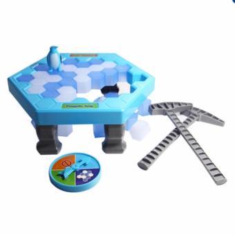 Bộ trò chơi bẫy chim cánh cụt - phá băng (Xanh dương)