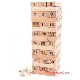 Bộ đồ chơi rút gỗ 48 miếng (Nâu)