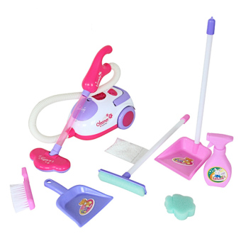 Children Babies Kids Kitchen Home Miniature Appliances Vacuum Cleaner Cleaning Play Set w/ Mop Dustpan Brush Foam Sponge Toy - intl