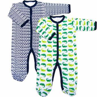 Bộ 2 áo liền quần liền vớ bé trai Baby Gear (Màu sắc ngẫu nhiên)
