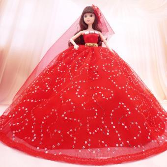 Búp bê cô dâu 12 khớp size lớn + tặng 8 món phụ kiện đi kèm