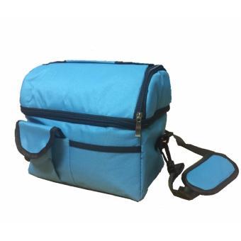 Túi giữ nhiệt cao cấp 2 ngăn (Xanh)