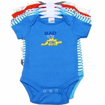 Bộ 5 áo liền quần bé trai từ sơ sinh đến 6 tháng Baby Gear (Màu sắc ngẫu nhiên)