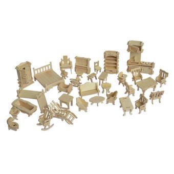 Bộ đồ chơi xếp hình 3D bằng gỗ giúp bé phát triển tư duy sáng tạo LOPA