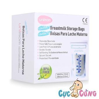 Túi trữ sữa Compact Unimom không BPA (60 túi - 210ml) - UM870268