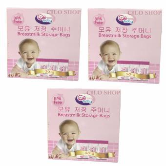 Bộ 150 túi đựng sữa GB Baby