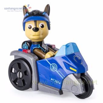 Đồ chơi Paw Patrol xe mô tô và chó Chase 02(Xanh)