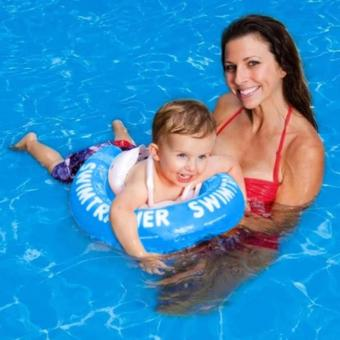 Phao tập bơi có đai an toàn chống lật cho bé(Xanh dương)