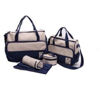 Túi đựng đồ cho mẹ và bé 5 chi tiết (Xanh)