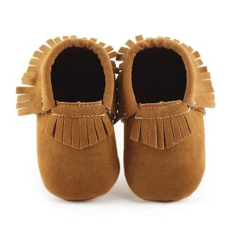 Giày tua bé gái G06 (nâu)