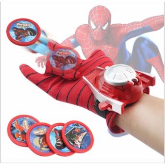 Găng tay bắn thẻ nhựa Người nhện cho bé