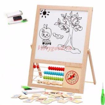 Bảng tính nam châm học toán, học vẽ 2 mặt + Tặng kèm 1 dụng cụ lấy ráy tai có đèn